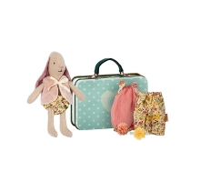 Micro Bunny with Suitcase and Clothes
